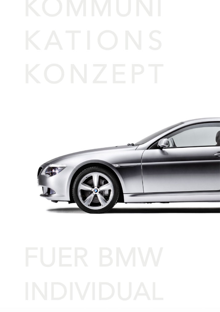 Kommunikationskonzept BMW Individual