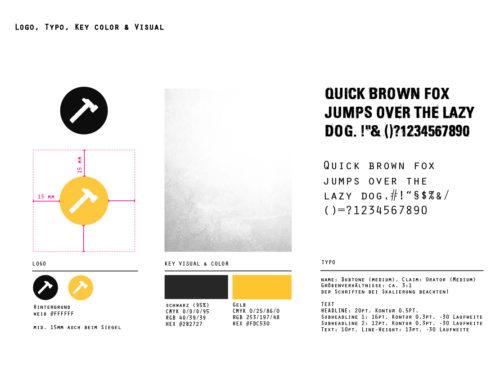 Bauzone24 Styleguide Schrift und Logo